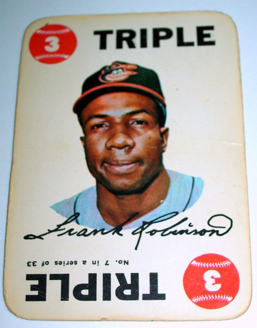 1968 Topps Baseball Game #7 Frank Robinson TRIPLE