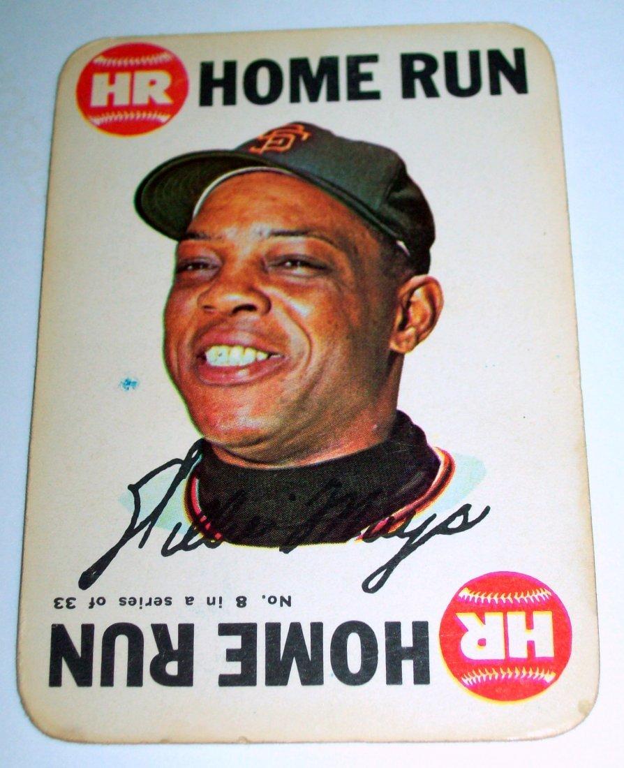 1968 Topps Baseball Game #8 Willie Mays HOME RUN