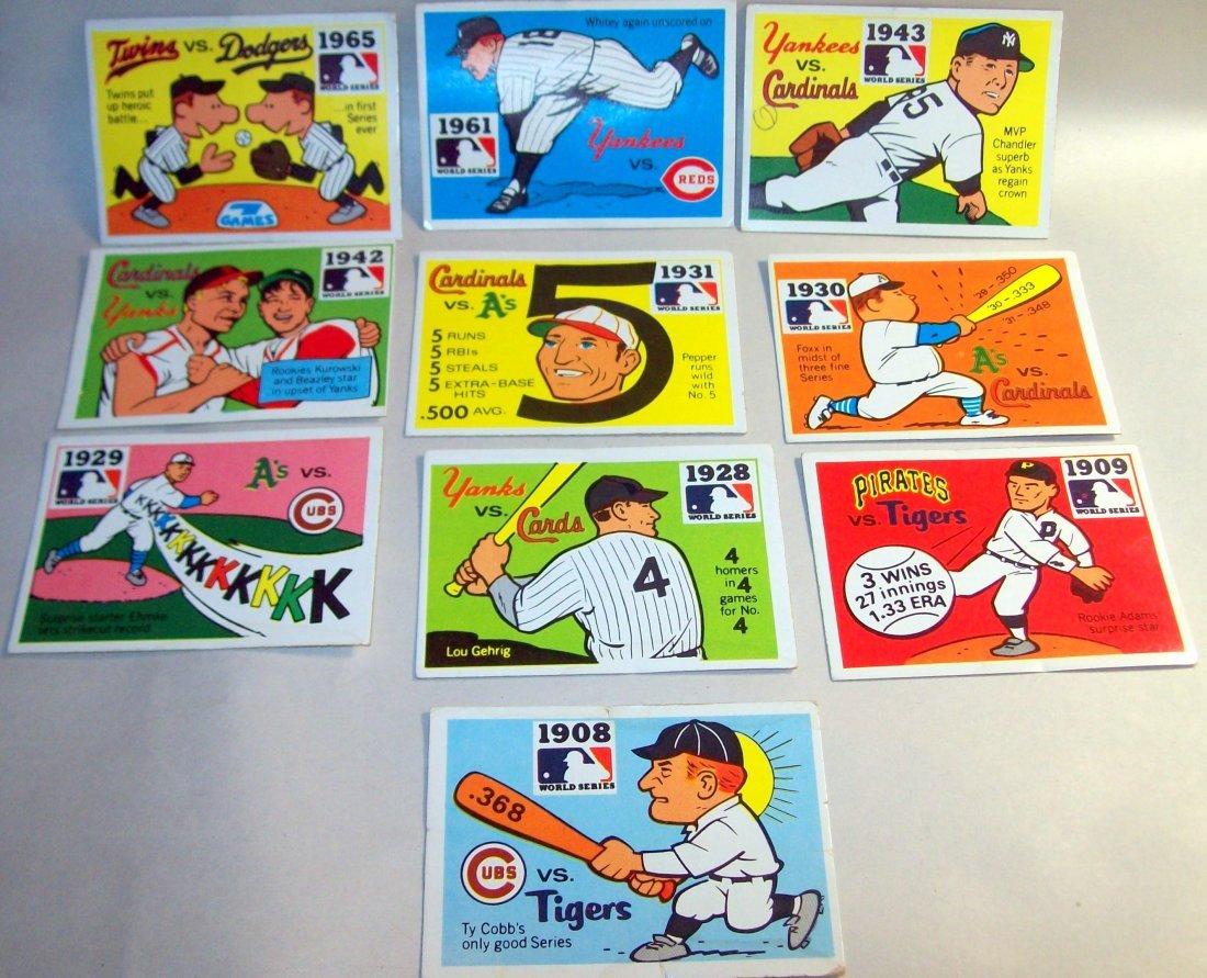 Lot of (10) 1968 Fleer World Series Baseball Cards