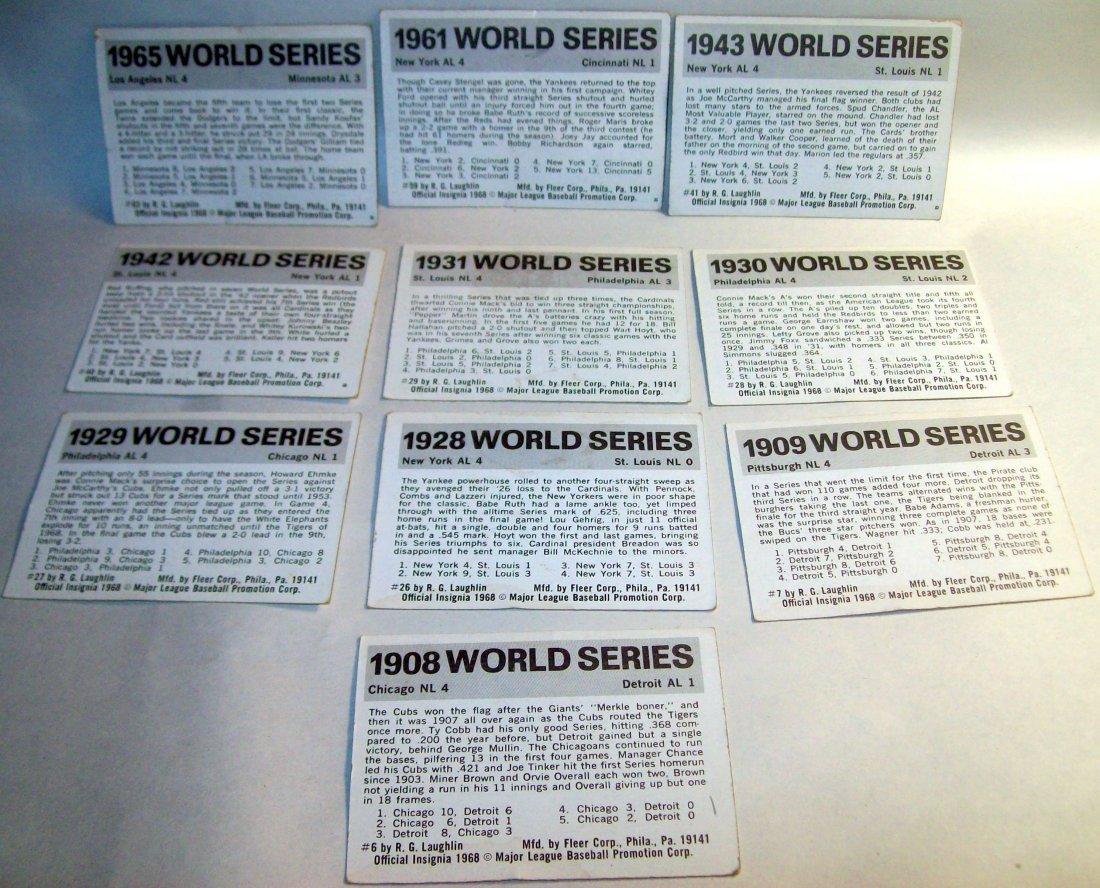 Lot of (10) 1968 Fleer World Series Baseball Cards - 2