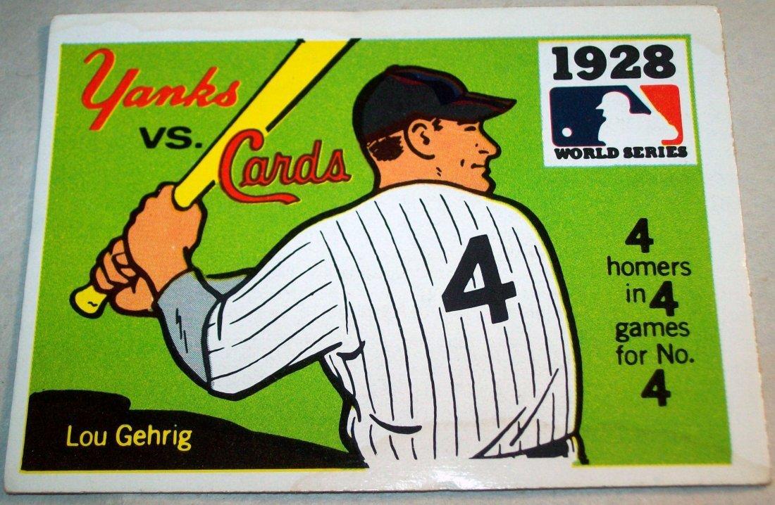 Lot of (10) 1968 Fleer World Series Baseball Cards - 3