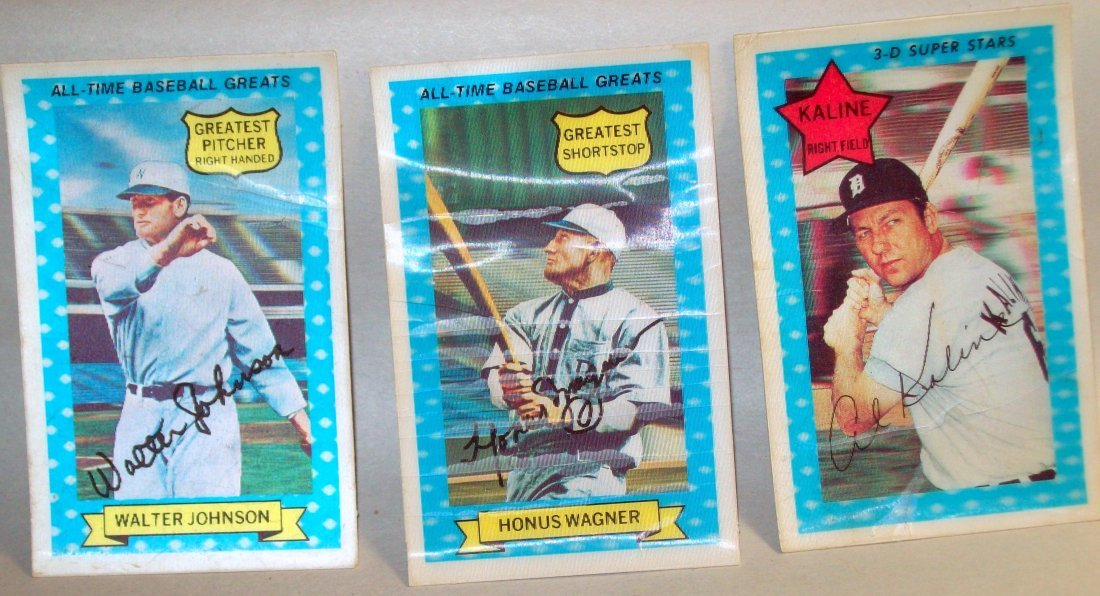 Lot of (3) 1972 Kellogg's Xograph 3-D Baseball Card