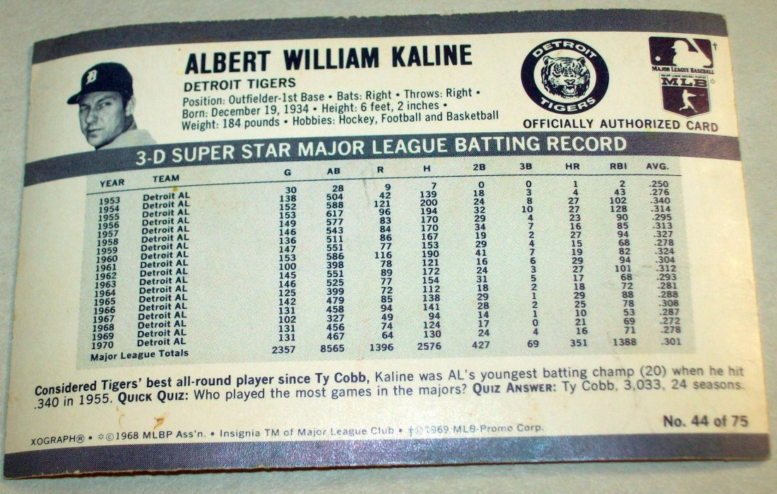 Lot of (3) 1972 Kellogg's Xograph 3-D Baseball Card - 4