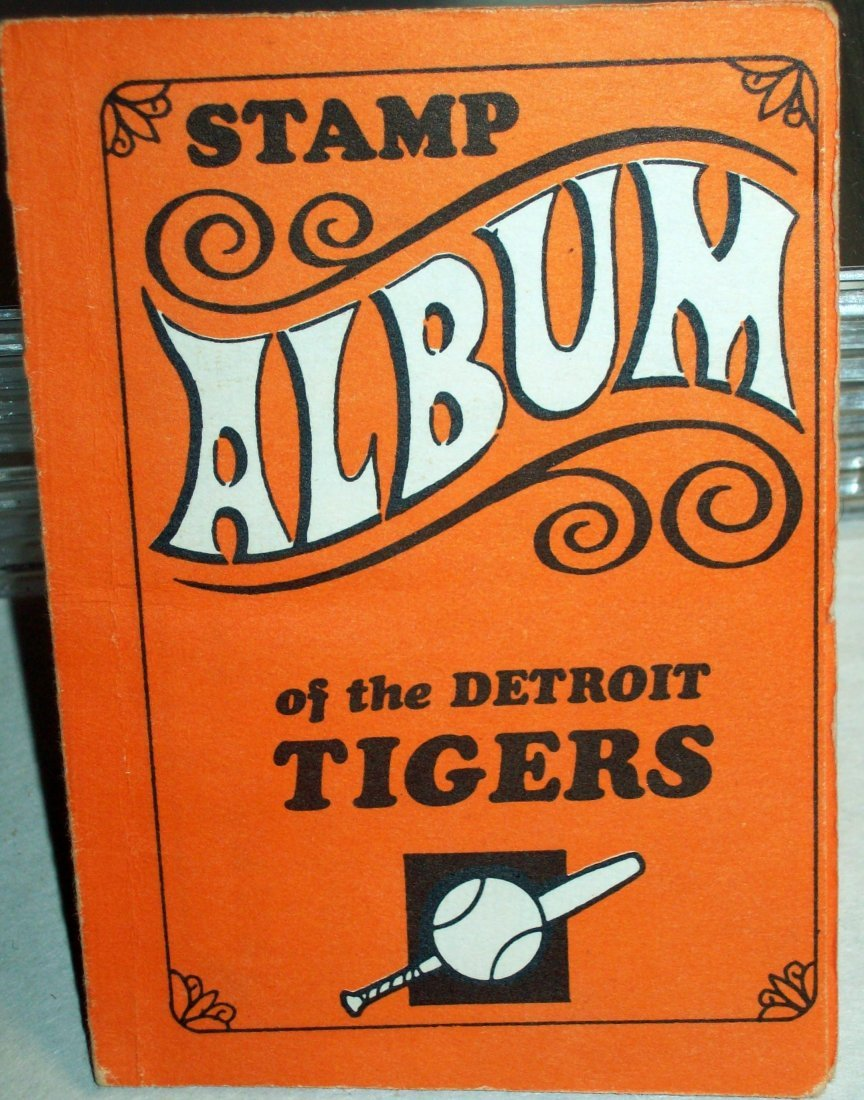 1969 Topps Stamps Album DETROIT TIGERS With Stickers