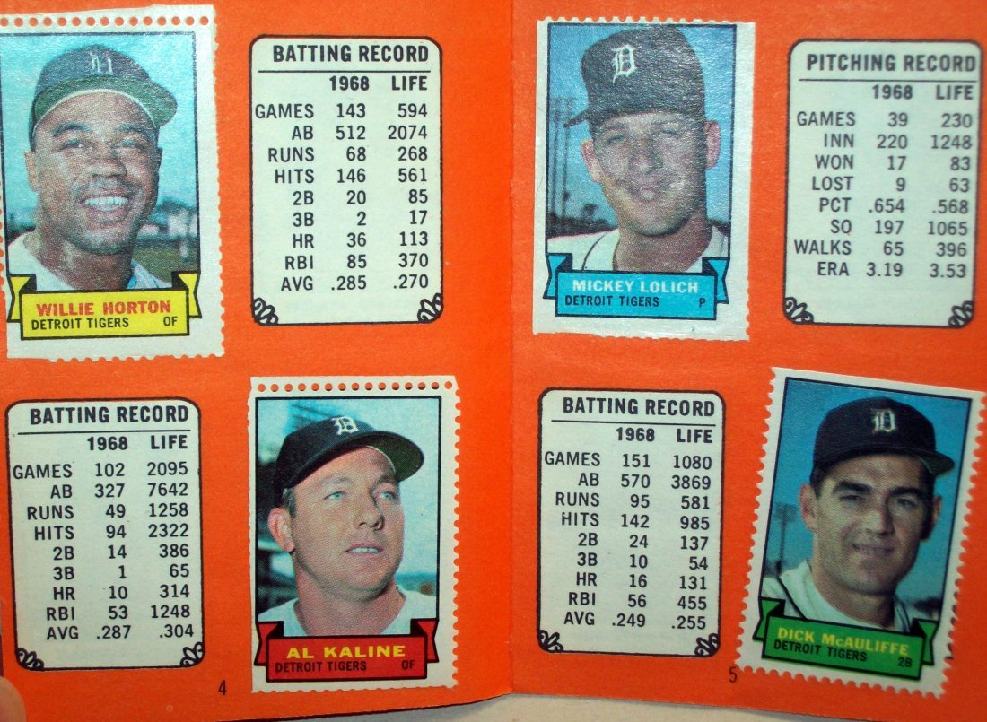 1969 Topps Stamps Album DETROIT TIGERS With Stickers - 3