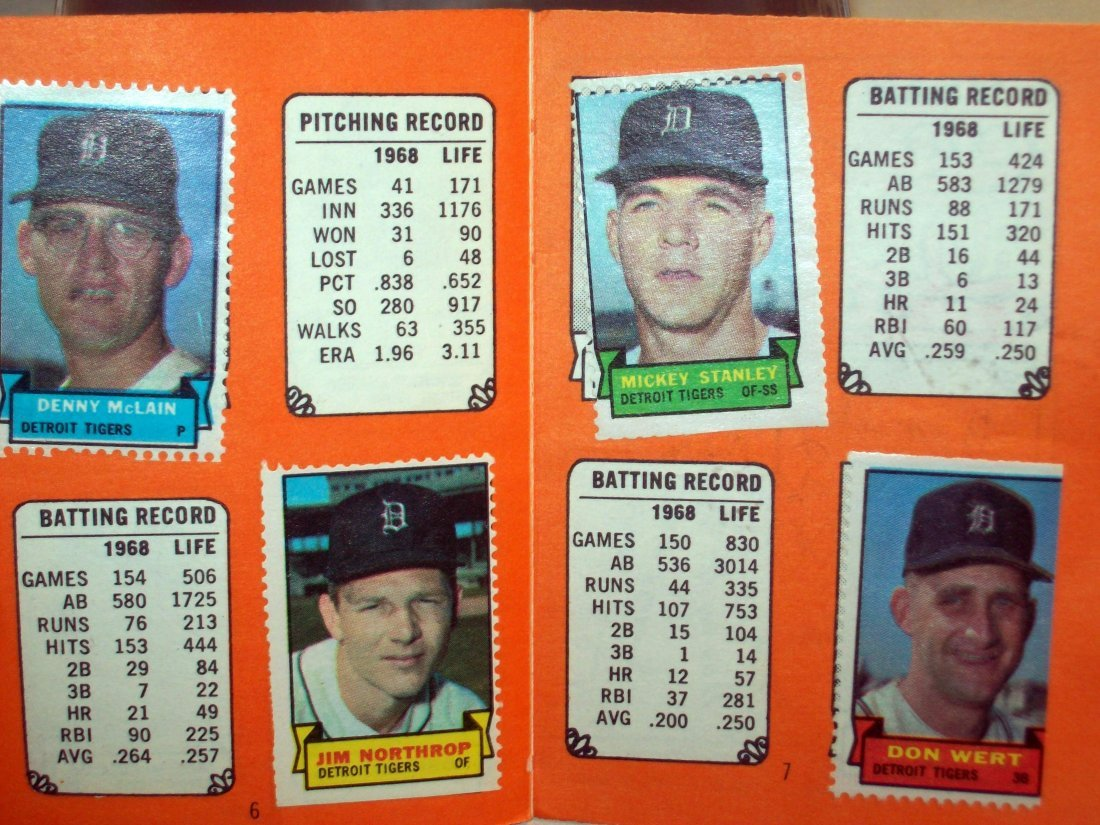 1969 Topps Stamps Album DETROIT TIGERS With Stickers - 4