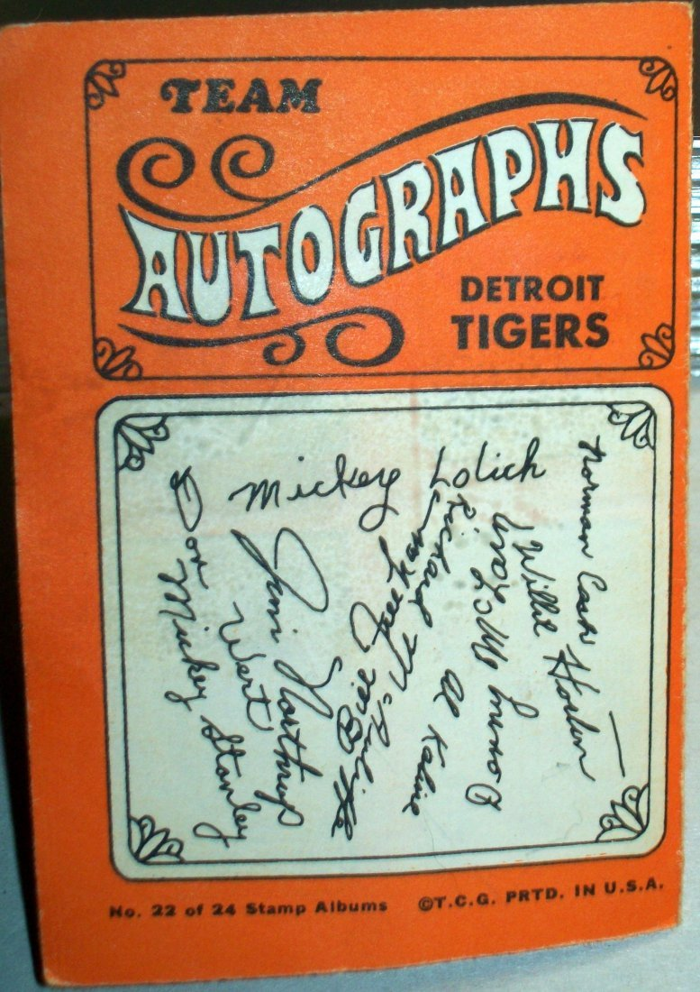 1969 Topps Stamps Album DETROIT TIGERS With Stickers - 5