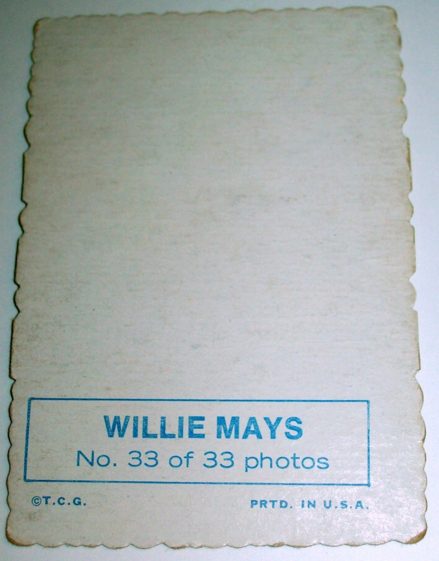 1969 Topps Deckle Edge #33 Willie Mays - 2