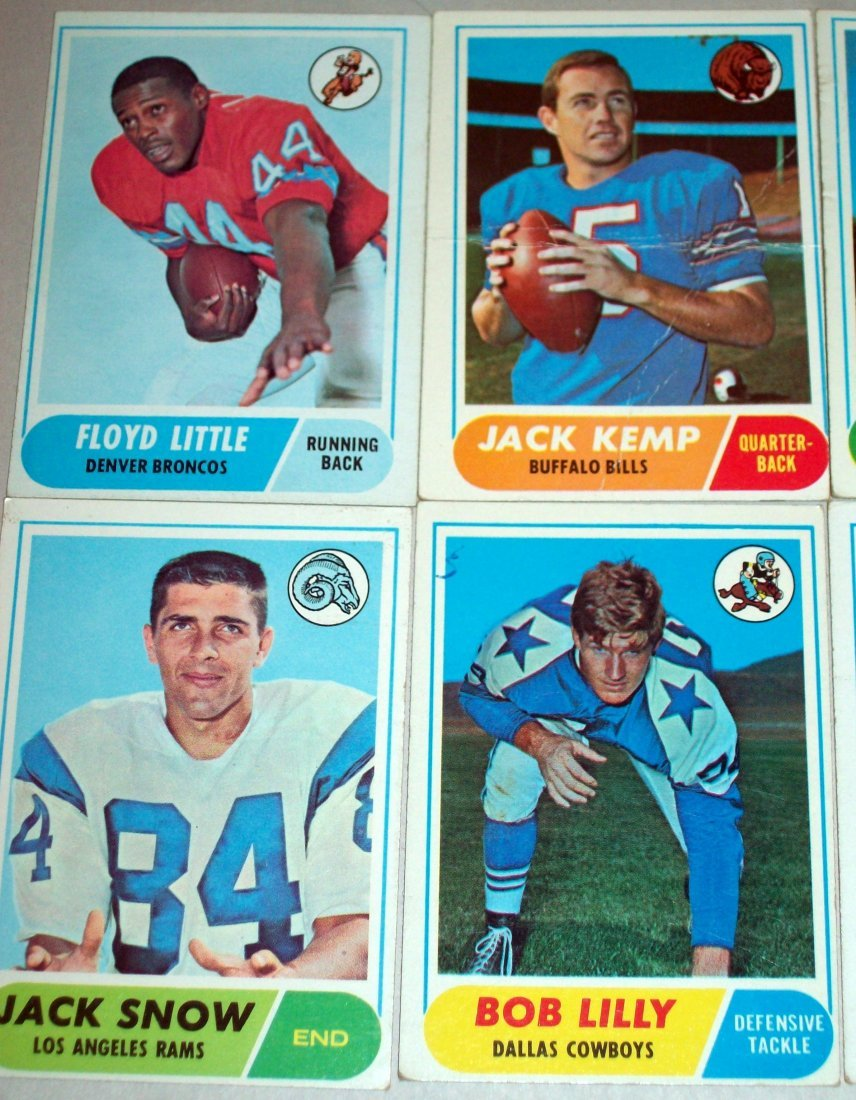 Lot of (60) 1968 Topps Football Cards - 2
