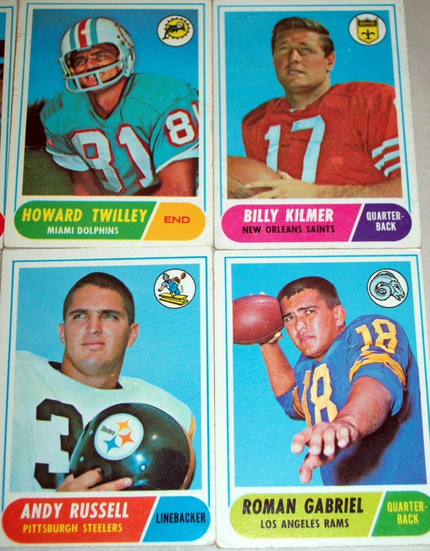 Lot of (60) 1968 Topps Football Cards - 3
