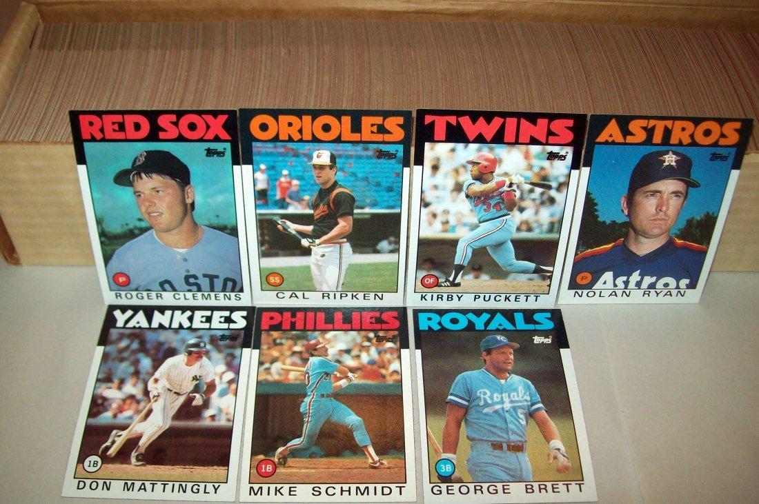 1986 Topps Baseball Set Complete