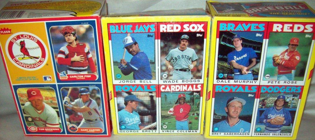 Lot of (3) Uncut MLB Box Baseball Cards