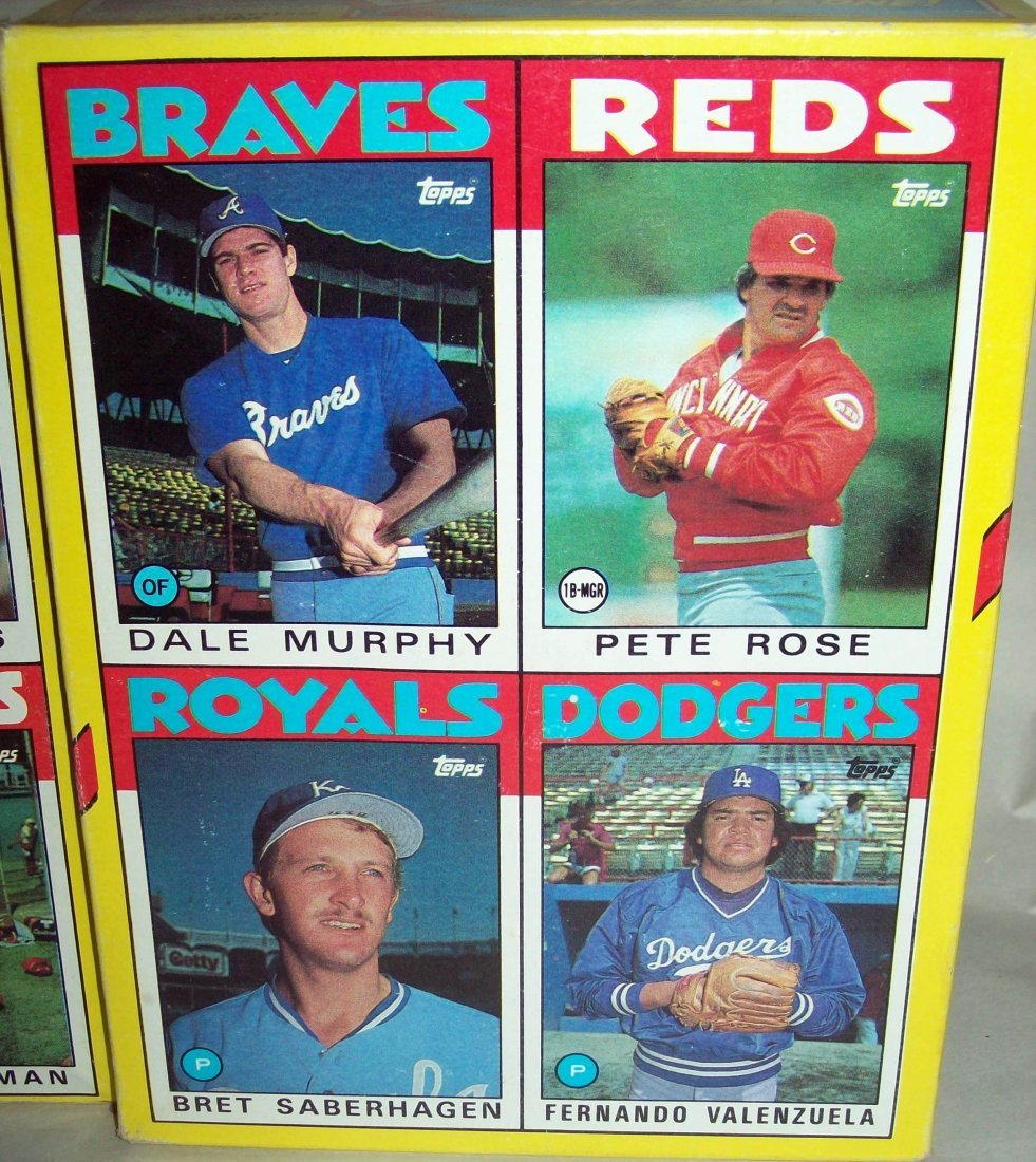 Lot of (3) Uncut MLB Box Baseball Cards - 2