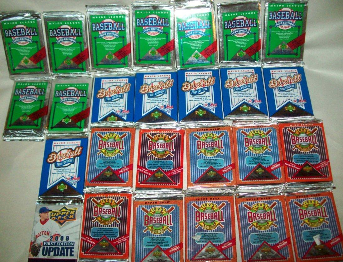 Lof of (26) Upper Deck Wax Packs 1990s