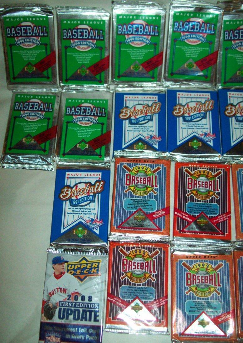 Lof of (26) Upper Deck Wax Packs 1990s - 4