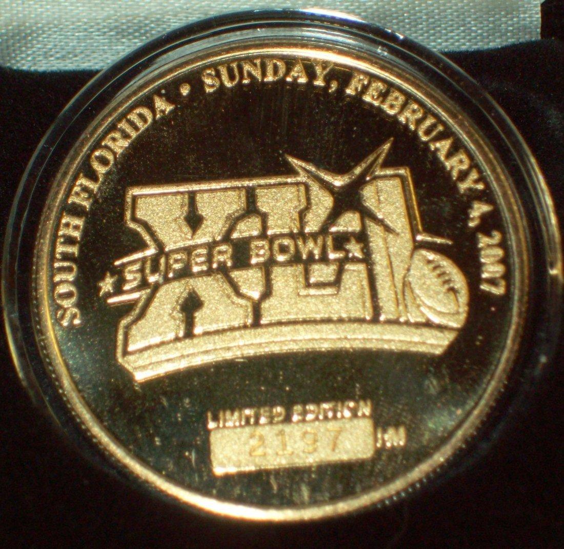 Indianapolis Colts Super Bowl XLI 24k Gold Medallion - 3