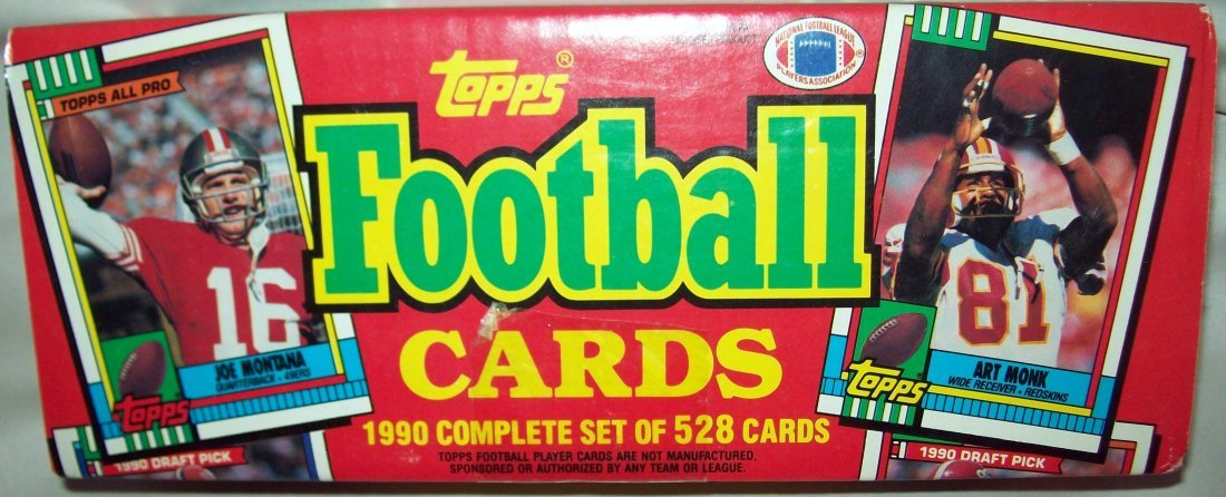 Topps Football Cards 1990 Complete Set 528 Cards Sealed