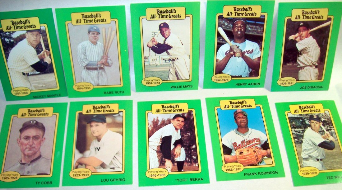 1987 TCMA Baseball's All-Time Greats Complete Set of 50 - 2