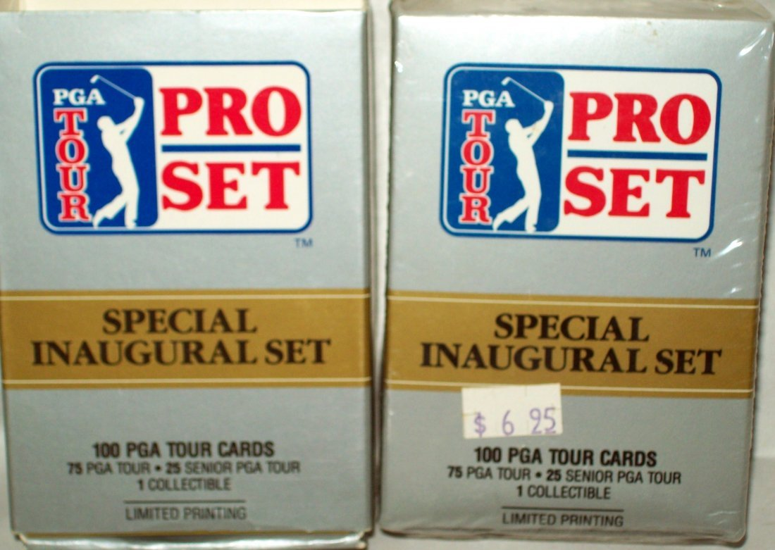 Lot of (2) 1990 PGA Tour PRO SET Special Inaugural Sets