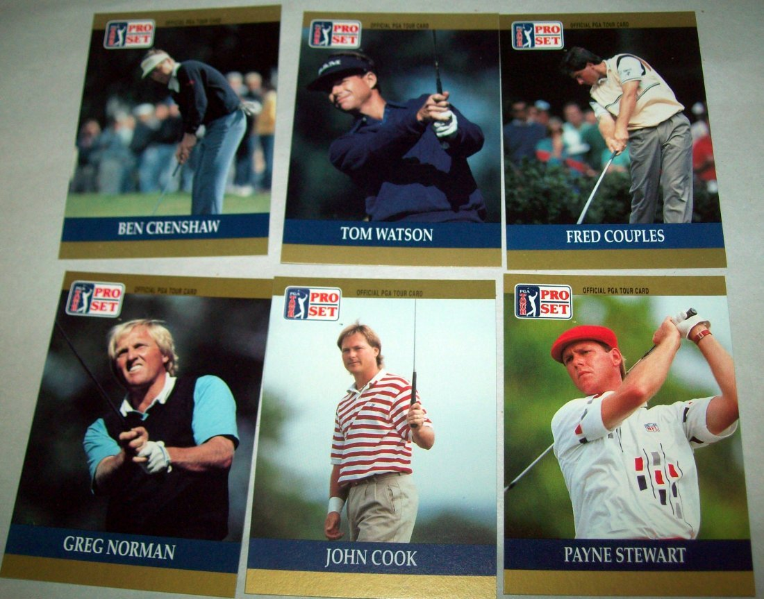 Lot of (2) 1990 PGA Tour PRO SET Special Inaugural Sets - 2