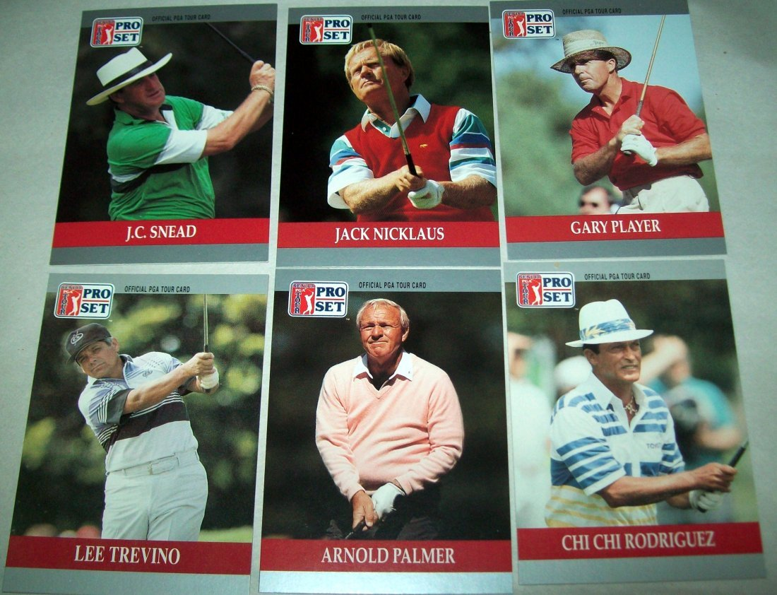 Lot of (2) 1990 PGA Tour PRO SET Special Inaugural Sets - 3