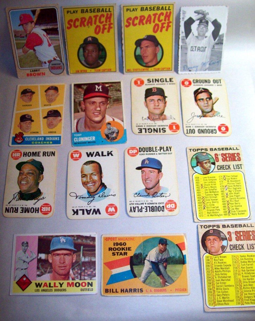 Lot of (15) 1960s Baseball Cards