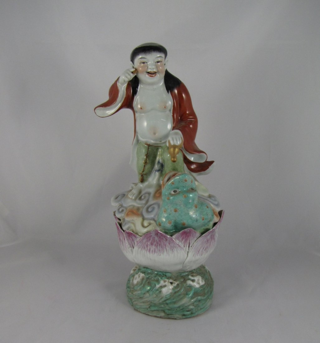 Chinese Qing Dynasty Porcelain Figural Group
