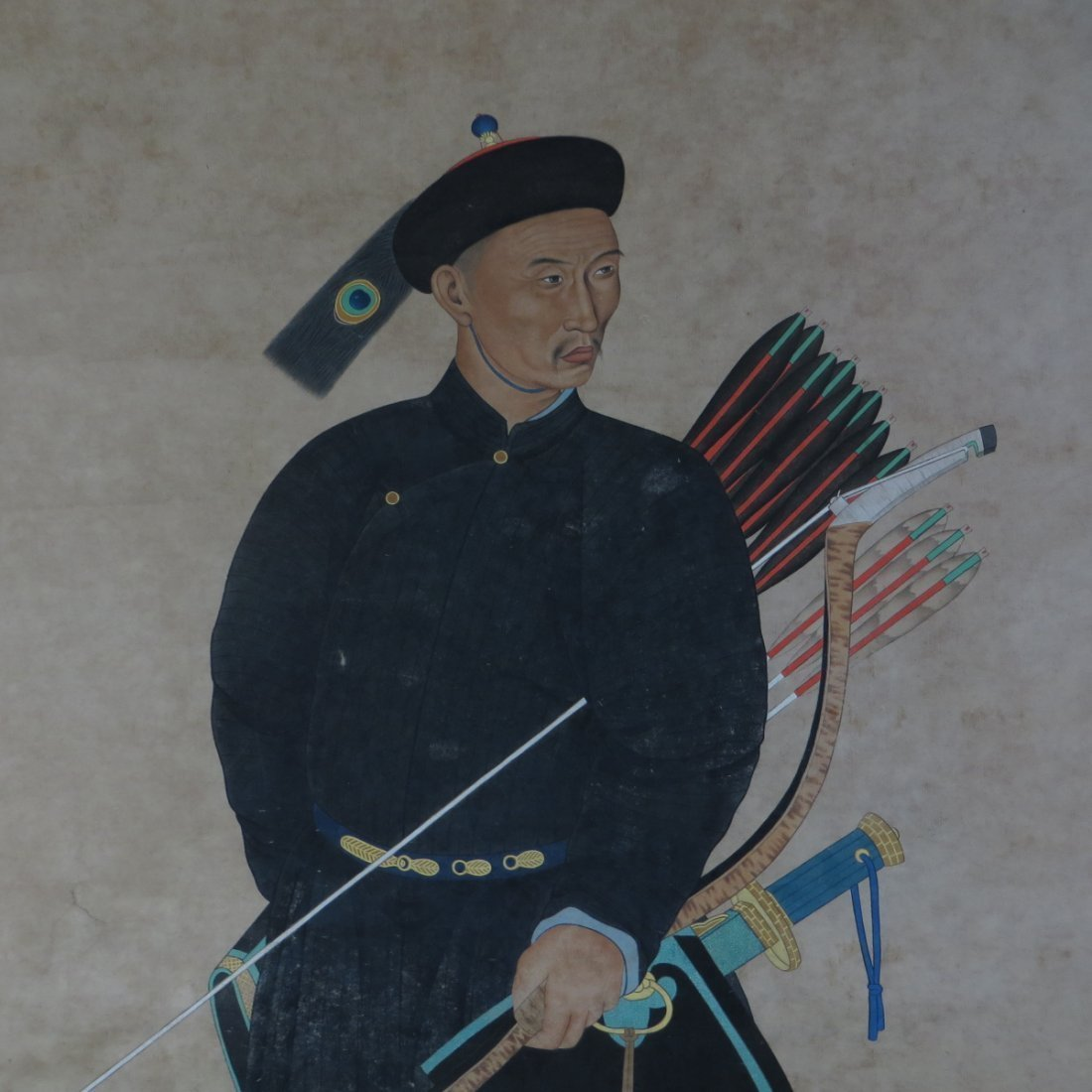 Chinese Painting of a Warrior - 2