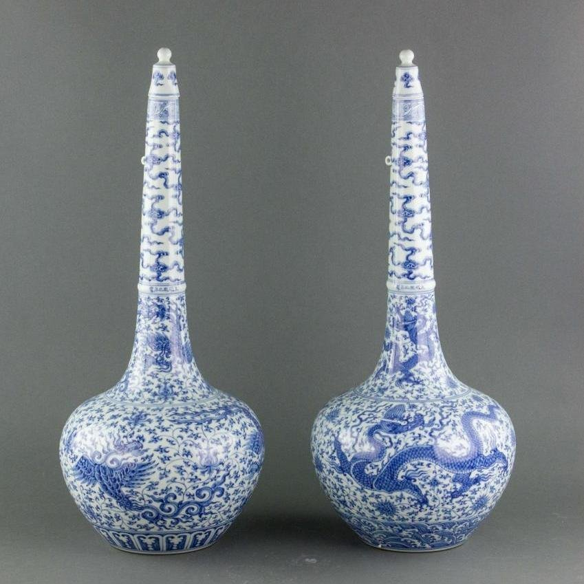 Pair Chinese Ming Dynasty Vases