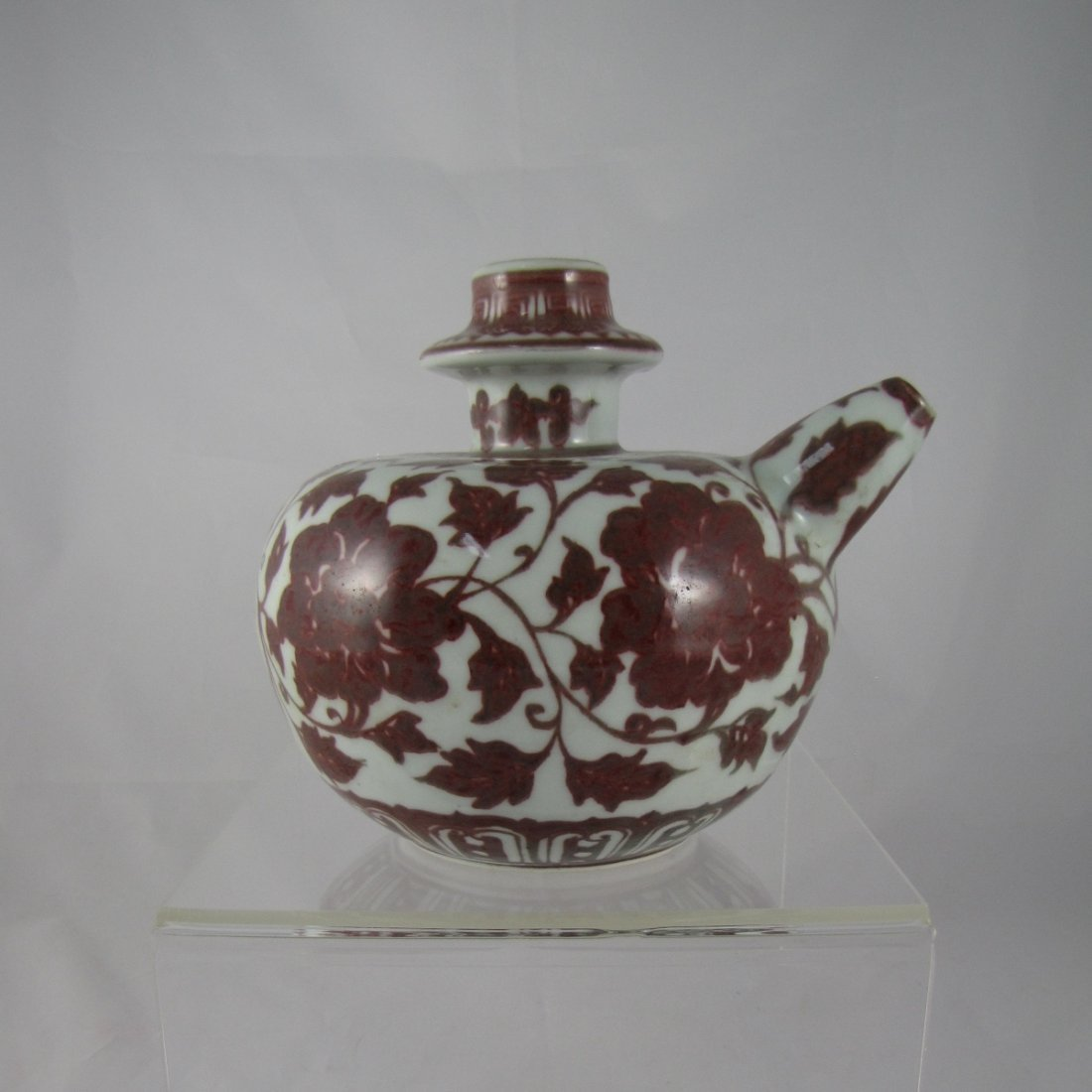 Chinese Ming Copper Red Porcelain Kendi