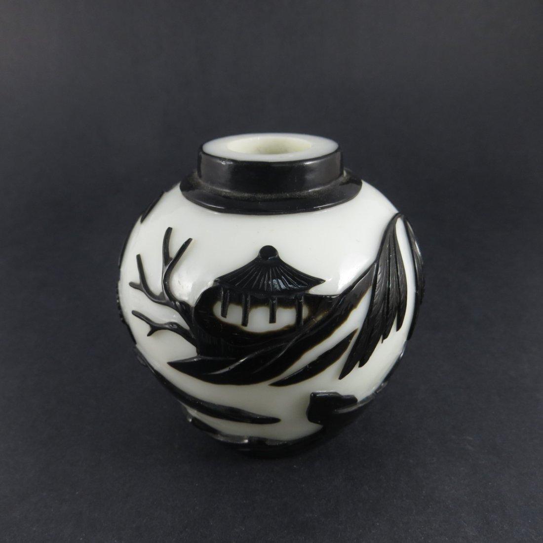 Chinese Qing Dynasty Peking Glass Jar