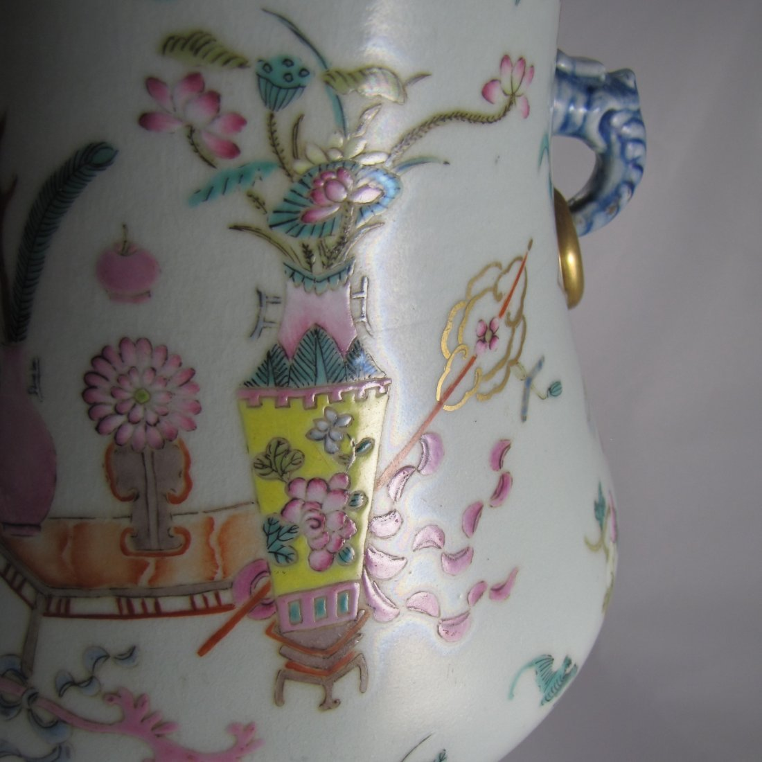 Chinese Qing Dynasty Famille Rose Vase - 5