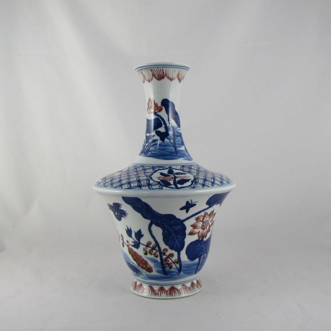Chinese BW Porcelain Vase