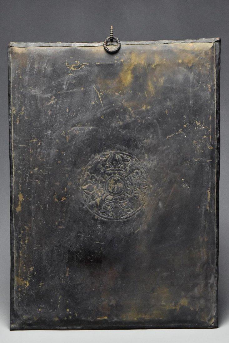 Chinese Tibet Gilt Bronze Panel - 4