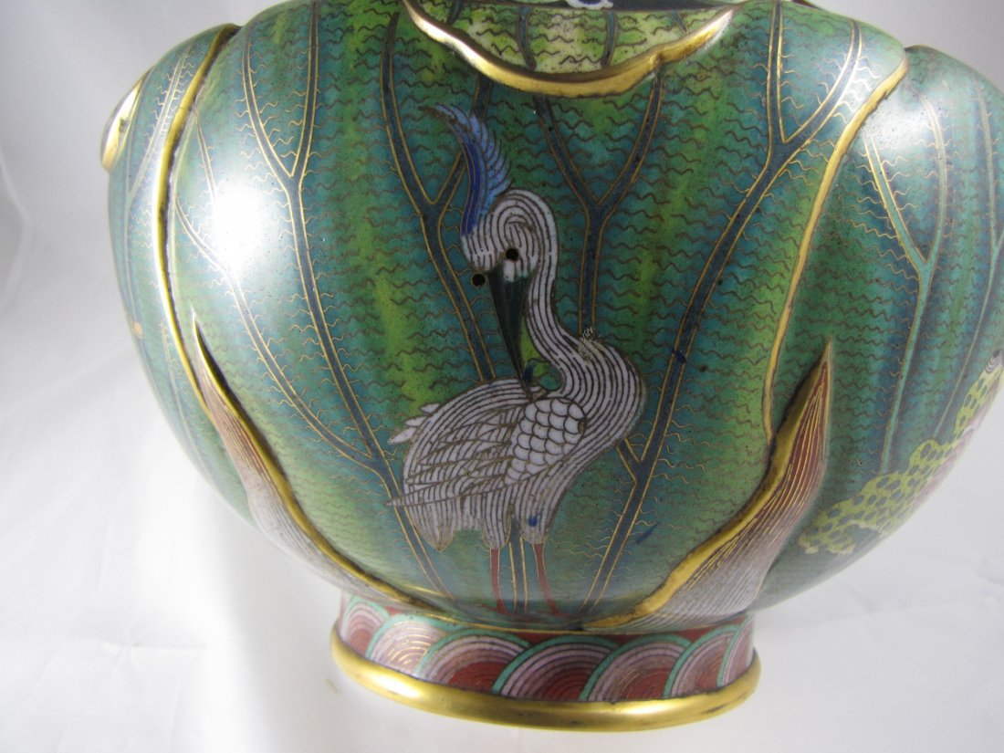 Chinese Qing Dynasty Cloisonne Vase - 10