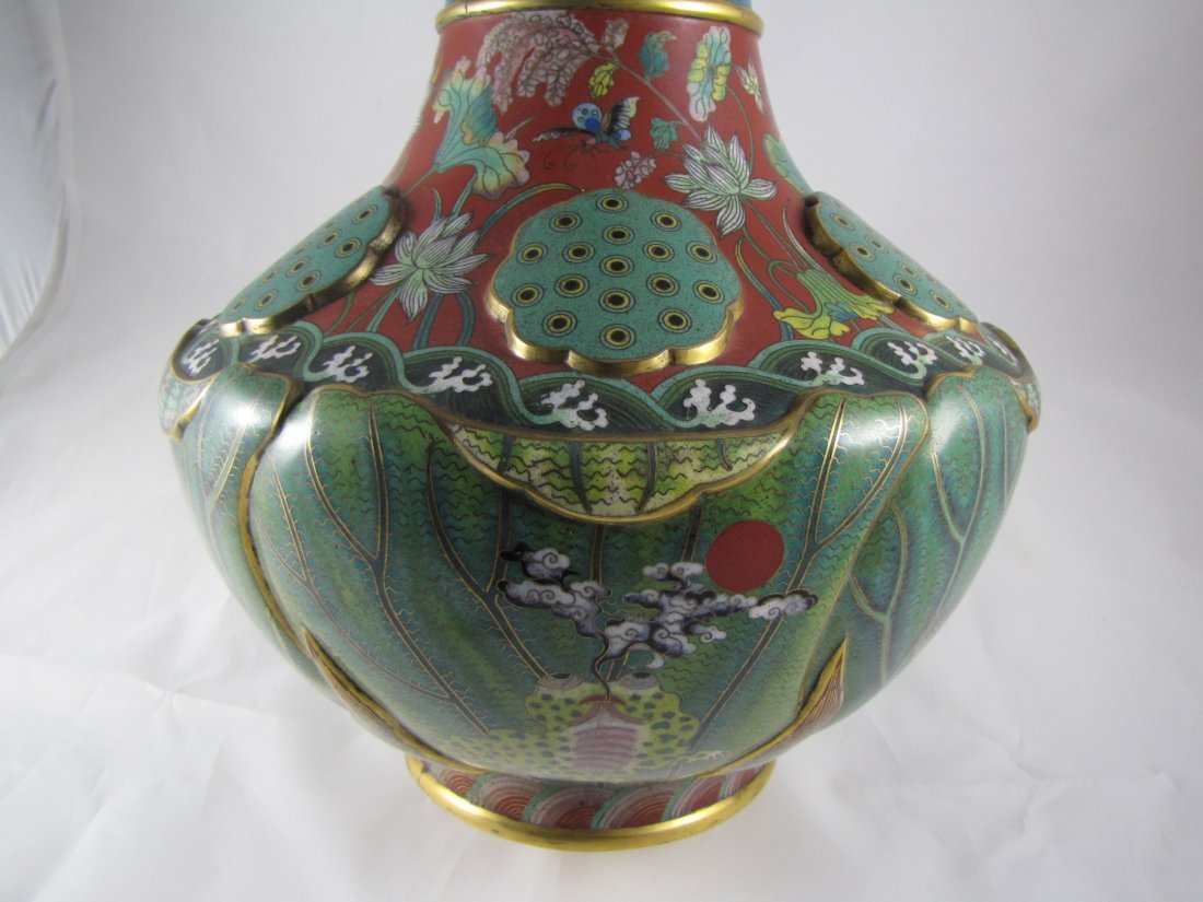 Chinese Qing Dynasty Cloisonne Vase - 7