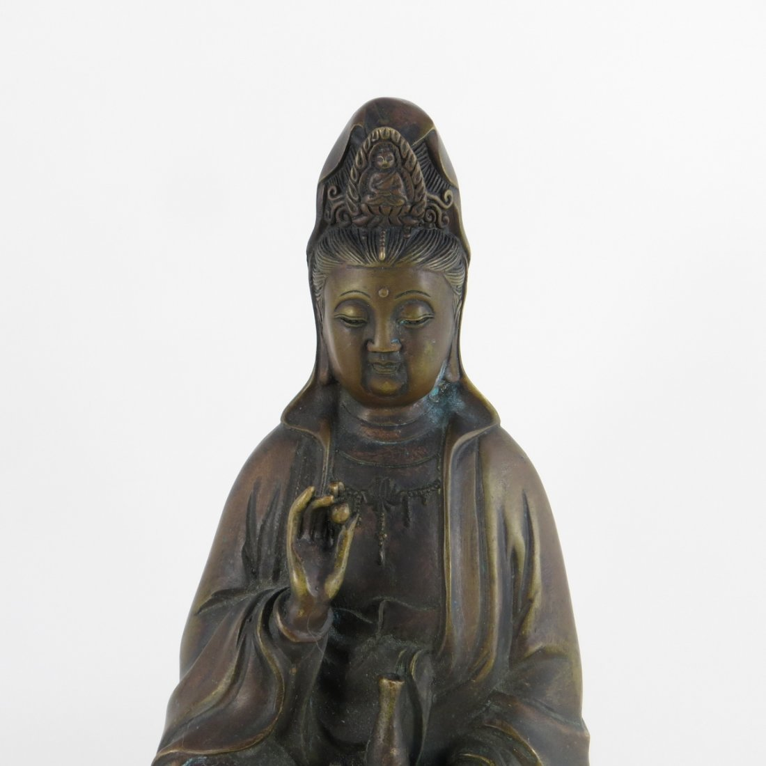 Chinese Ming Dynasty Bronze Guanyin - 3