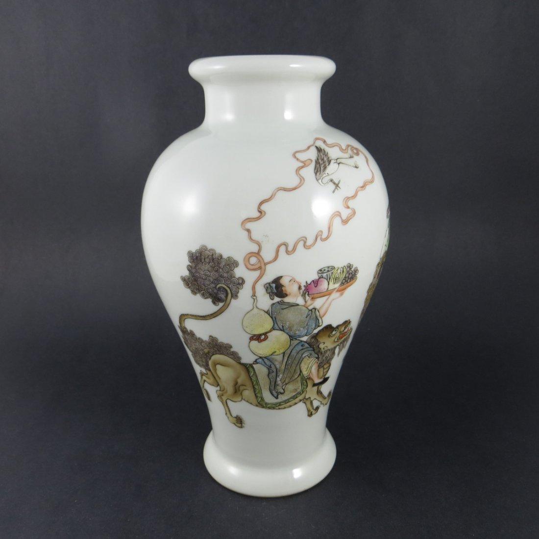 Chinese Qing Dynasty Famille Rose Porcelain Vase - 2