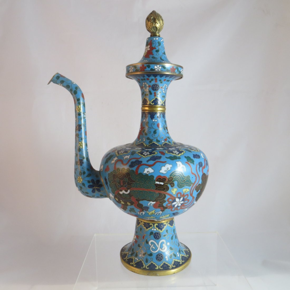 Chinese Qing Dynasty Cloisonne Tea/Coffee Pot - 2