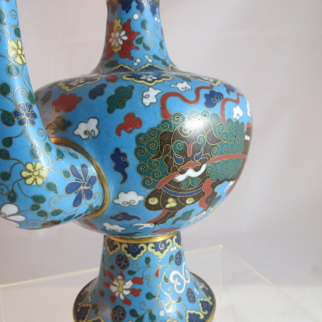 Chinese Qing Dynasty Cloisonne Tea/Coffee Pot - 3