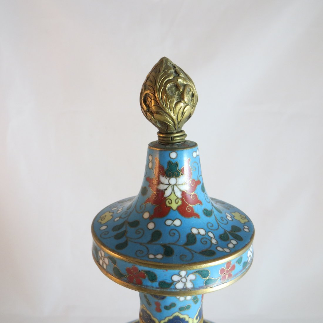 Chinese Qing Dynasty Cloisonne Tea/Coffee Pot - 4