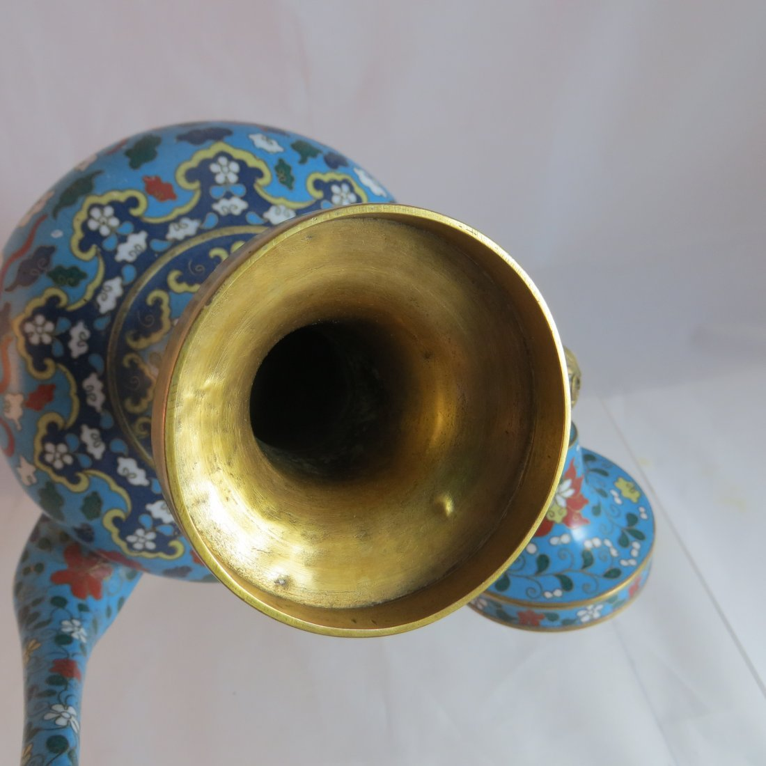 Chinese Qing Dynasty Cloisonne Tea/Coffee Pot - 6