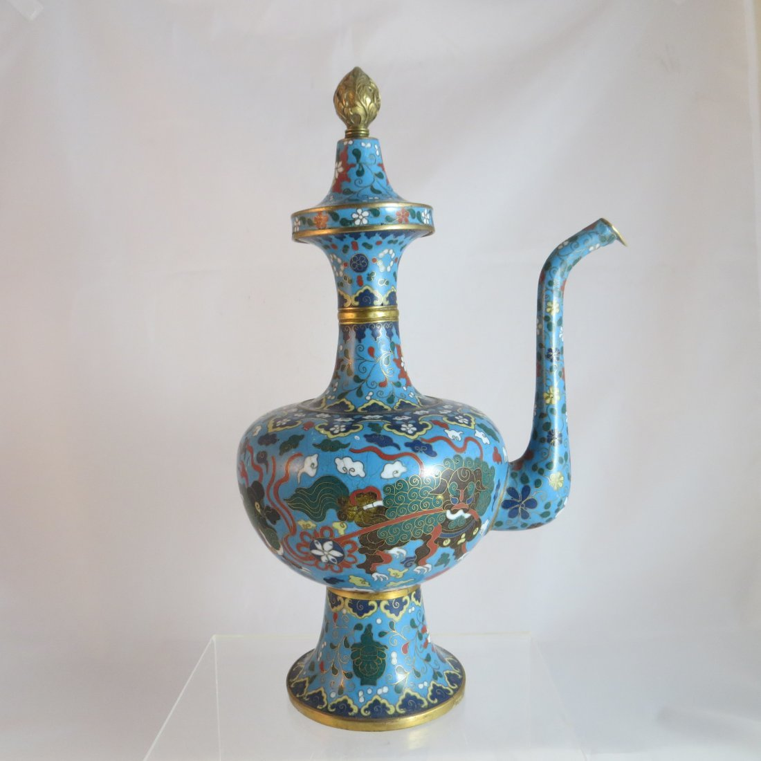 Chinese Qing Dynasty Cloisonne Tea/Coffee Pot