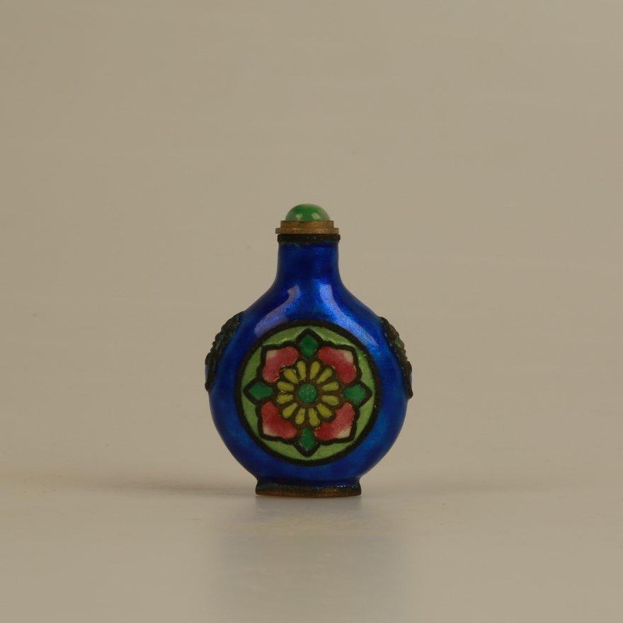 Chinese Qing Dynasty Enamel Snuffbottle