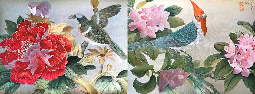TWO CHINESE PAINTING PRINTS
