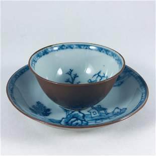 CHINESE QING DYNASTY PORCELAIN CUP AND SAUCER SET