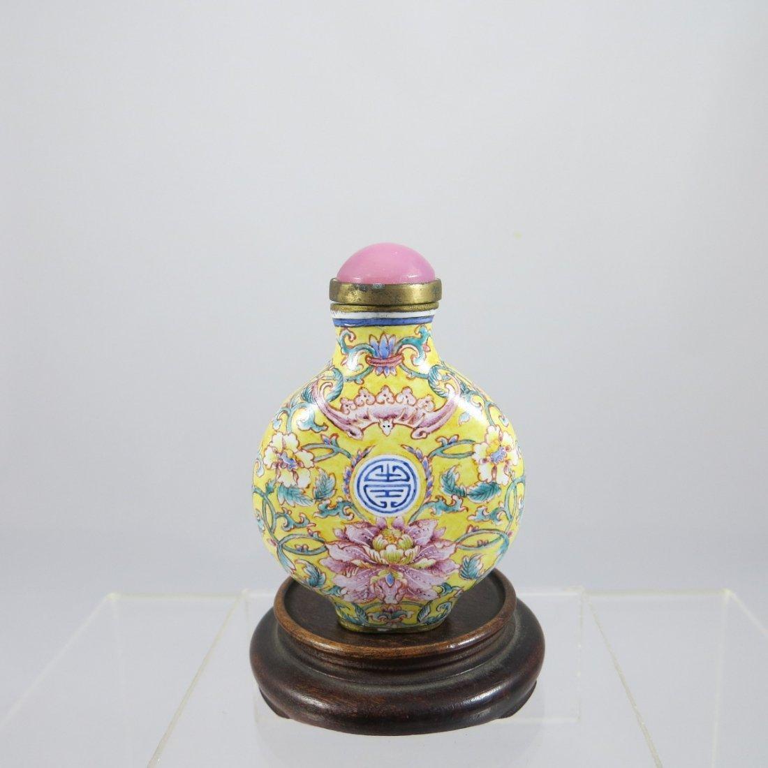 Chinese Qing Dynasty Enamel Snuff Bottle