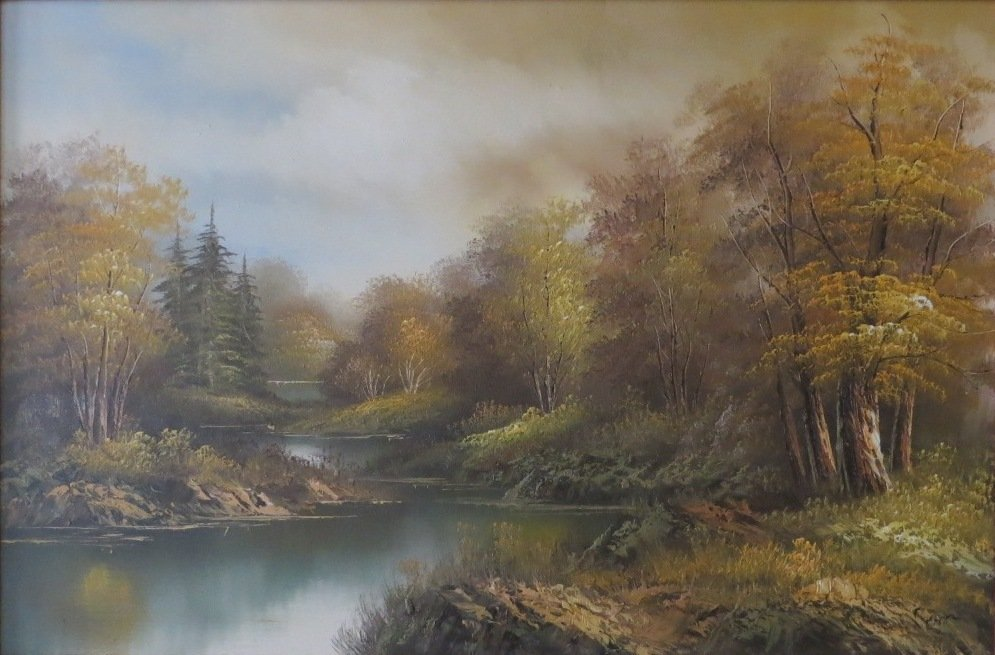 Canadian Oil Paiting On Canvas