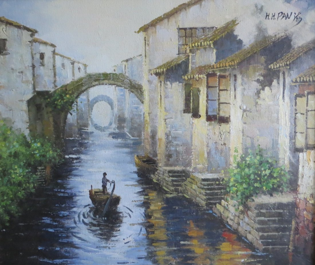 Chinese Oil Painting On Canvas