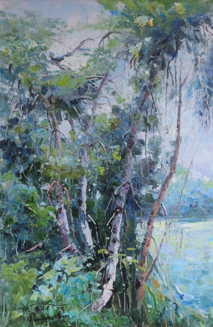 Huang Laiduo(1935-) Chinese Oil On Canvas
